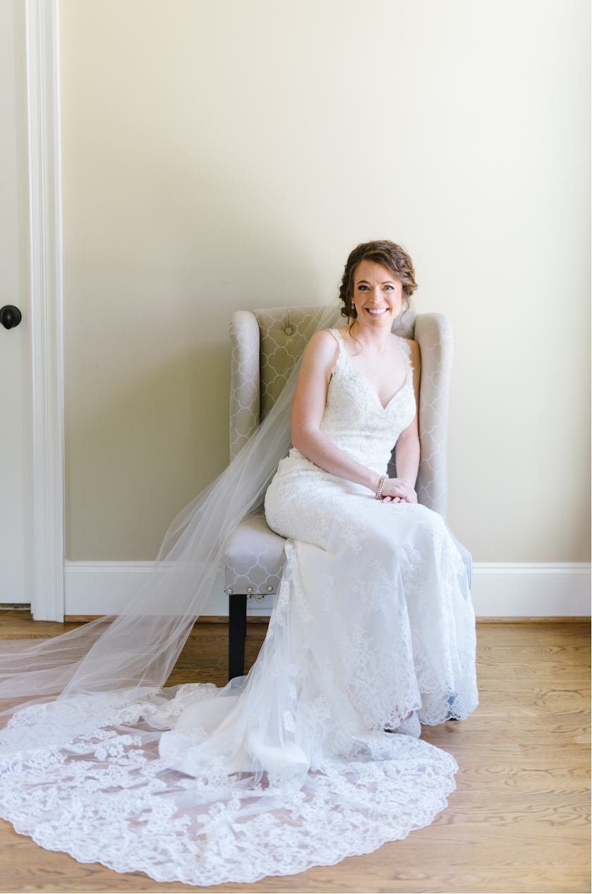 Bridal Portraits by Kelsey Nelson Photography at the Oaks at Salem in Apex NC